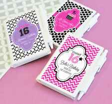 48 Personalized Sweet 16 Notebooks Note Pads Birthday Party Favors
