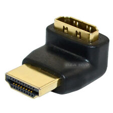 HDMI 1.4 male plug to female jack 90 degree left up angled adapter convertor