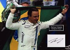 Felipe MASSA SIGNED Autograph 16x12 Photo Dry Mount AFTAL COA Williams F1