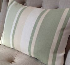 "12x 16"" cushion cover Laura Ashley Awning Hedgerow green stripe fabric"