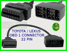 TOYOTA OBD CONNECTOR CABLE 22 PIN OBD1 TO OBD2