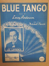 Canción Hoja Blue Tango Lee Lawrence 1952