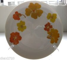"PRE-OWNED SUISSE LANGENTHAL SALAD PLATE ""YELLOW & ORANGE FLOWER"", SWITZERLAND"