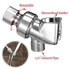 Universal Shower Head Holder Arm Mounted Adjustable Screwed On Bracket Chrome