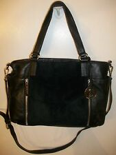 Michael Kors Black Pebbled Leather Tote Shoulder Handbag/Briefcase Extra Large