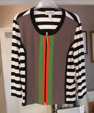 Joseph Ribkoff 22 BNWT Divine Plus Size Black, White & Colours Zip-Up Top Jacket