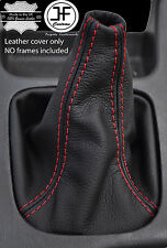 RED STITCHING MANUAL LEATHER GEAR GAITER FITS  SUBARU LEGACY 1999-2003