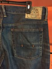 POLO RALPH LAUREN VINTAGE 67 STRAIGHT FIT JEANS Tag 34 X 34 measures 36 X 34