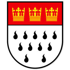 "Koeln Germany Coat of Arms bumper sticker 3"" x 5"""