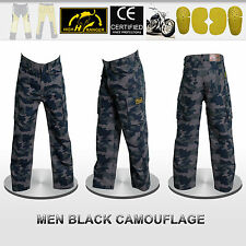 Men Motorbike Camouflage Trousers Pants Reinforced with DuPont™ Kevlar® fiber