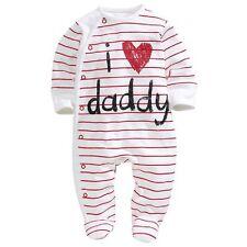 Vendedor Reino Unido Ropa De Bebé I Love Daddy Chicos Chicas Rompers PLAYSUIT Pelele 0-3m