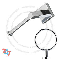 Chrome Square Toilet Bathroom Paper Holder And Modern Towel Ring Set S872