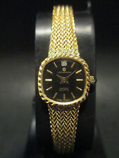 A29 NEW WOMEN'S JB CHAMPION Gold Dress Diamond Mesh WATCH QUARTZ VINTAGE Dress