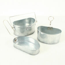 British WW1 D Shaped Mess Tins Metal