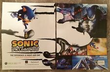 """Sonic Unleashed Poster Ad Print 10"""" X15"""" Wii Playstation Xbox 360"""