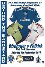 Stranraer v Falkirk 06/09/14 Challenge Cup QF + Team Sheet