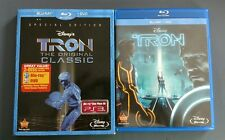 Tron & Tron Legacy On Bluray! Only original With Slipcover, Blu-ray DVDs