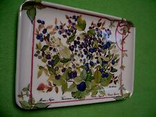 Vintage Atelier Michele Trumel  miniature tray w/ colorful fruit bushes. Italy.