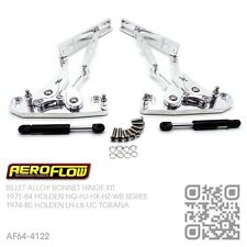 BILLET POLISHED ALLOY BONNET HINGES [HOLDEN HQ-HJ-HX-HZ-WB MONARO/GTS/UTE/VAN]