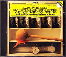 Herbert von KARAJAN: HAYDN Symphony No.94 Suprise 101 Clock DG CD 1982 Sinfonien