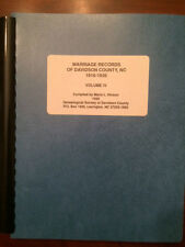 Davidson County, NC, Marriage Records, 1916-1926, Vol. 4, Genealogy Resource