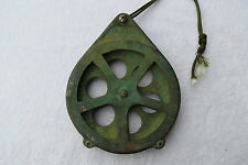 6+3/8 INCH BRONZE KOLSTRAND FISHING PULLEY BRASS BLOCK BOAT SHIP  (#97)