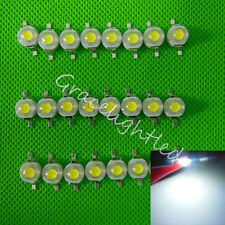 100pcs 3W High Power cool White 6000-6500K LED Beads Lamp diodes 260-280Lm F DIY