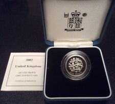 2002 Royal Mint Silver Proof £1 Coin 'Three Lions ' Boxed COA