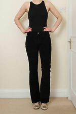 BNWOT DOLCE GABBANA GORGEOUS BLACK CORDUROY TROUSERS W LEATHER BELT S 27 RRP£320