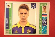 PANINI CHAMPIONS LEAGUE 2014/15 N. 560 ZAHOVIC MARIBOR BLACK BACK MINT!