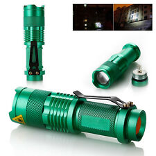 LED Taschenlampe Ultra 1000LM CREE Q5 Flashlight Einstellbare Foku Zoomable Grün