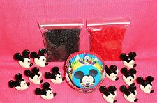 Mickey Mouse,Cupcake Kit, Rings,Sprinkles,Bake Cups,Wilton,black/red,415-7070