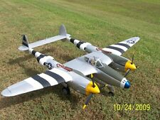 1/8 Scale Lockheed P-38 LIGHTNING scratch build R/c Plane Plans & Instr 74 in.WS