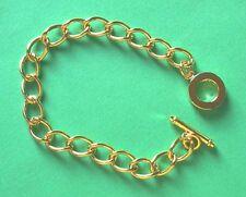 Complet plaqué or massif barre en t bracelet chaîne, idéal pour charms etc