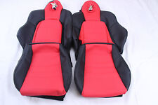 Custom Made Honda S2000 AP1  Real Leather Seat Covers Black and Red two tone