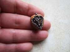 Antique Georgian Cut Steel & Agate Heart Pendant
