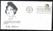 1822 -- Dolley Madison - First Day cover -- Virgil Crow cachet