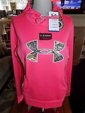 NWT Womens Under Armour Storm Caliber Hoody Hoodie Camo 1247106 853 $64.99 LARGE