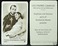 OLD BLESSED SAINT CAMILLUS DE LELIS HOLY CARD ANDACHTSBILD SANTINI SEE SHOP C681