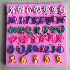 Numbers&Letters Alphabet Silicone Fondant Cake Chocolate Candy Mold Mould Tools