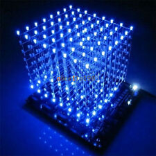 Imported 3D Light Squared DIY Kit 8x8x8 3mm LED Cube Blue Ray M114