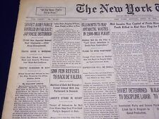 1932 APRIL 18 NEW YORK TIMES - SINN FEIN REFUSES DE VALERA - NT 4011