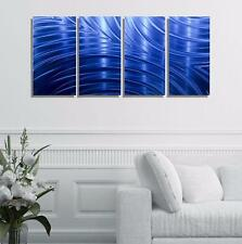 Abstract Modern Metal Wall Art Decor, Blue Painted Wall Sculpture - Jon Allen