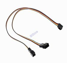 New 4Pin PWM To Dual 4pin PWM Power Y-Splitter Adapter Cable for CPU PC Case Fan