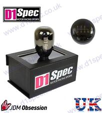 D1 SPEC UNIVERSAL RACING WEIGHTED GEAR KNOB 6MT GUNMETAL CHROME JDM DRIFT