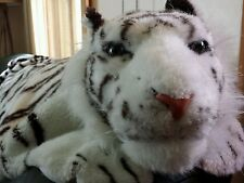 "Large Faux Fur Tiger skin RUG White The Great American Toy CO. W/ Head- 80""x 43"""