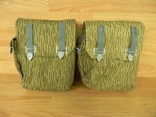 LOT OF 2  E.GERMAN MILITARY AK-4 CELL MAGAZINE/AMMO POUCHES RAIN CAMO USED