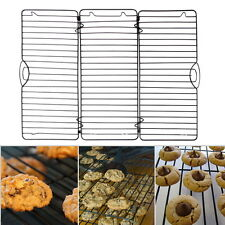 Expand Fold Cross-Wire Grid Cooling Rack Wire Pan Grate Baking Rack Icing Rack