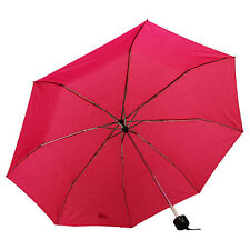 Compact Umbrella Folding Brolly Rain Wind Resistant Assorted Designs Colours