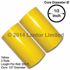 """Hot Stamp Stamping Foil Roll Yellow KINGSLEY HOWARD 3"""" 2 x 200 Ft #YED-4450-S2"""